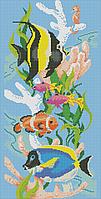 Схема для вышивки бисером Морские рыбки(полная зашивка) КМР 2016