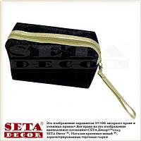 Косметичка сумочка чёрная с ручкой на молнии