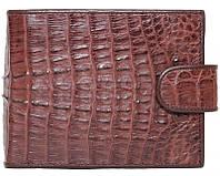 Мужской кошелек из кожи крокодила (ALM 100T Brown), фото 1