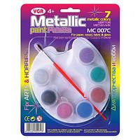 Краски акриловые VGR МС007С, 7 цветов (3мл), с/кист.