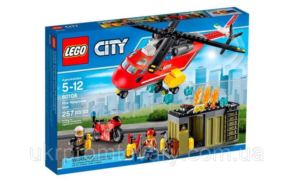 Новый конструктор пожарная команда быстрого реагирования Lego лего 60108