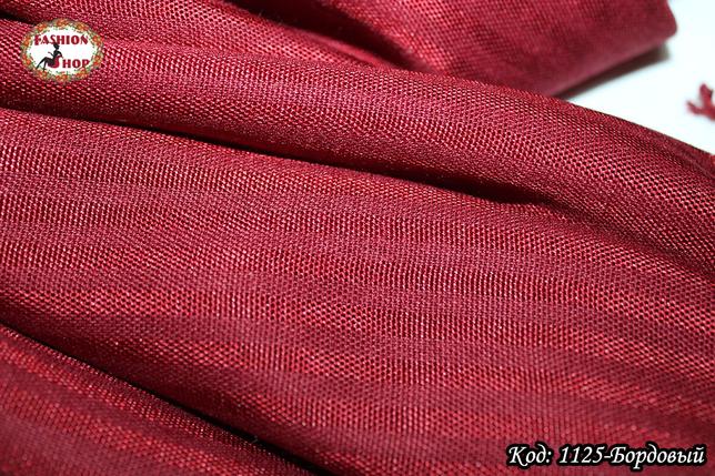 Женский бордовый шарф Классический, фото 2