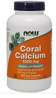 Коралловый Кальций, Now Foods, Coral Calcium 1000mg, 250 caps