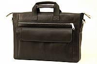 Кожаная мужская сумка-портфель Tom Stone 415 черная