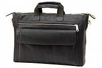 Кожаная мужская сумка-портфель Tom Stone 415 синяя