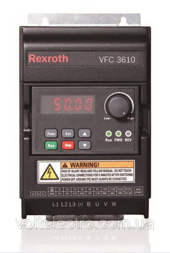 Преобразователь частоты Bosch Rexroth VFC 3610  4.00kW, 3AC 380-480V, 50/60Hz, 9.7A