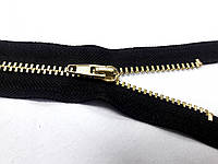 Молния металлическая № 4, 16 см (черный) золото, неразъемная (М4016)