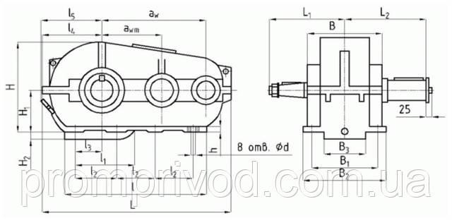 Чертеж редуктора РК-600