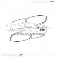 Накладки на задние фонари (стопы) для Hyundai Santa Fe