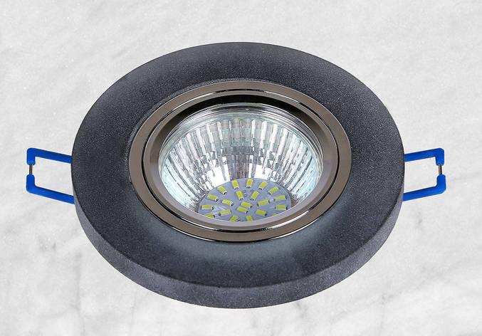 Точечный стеклянный врезной светильник (16-MKD018), фото 2