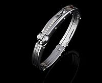 Мужской браслет наручник bvlgari булгари сталь 316L комплект