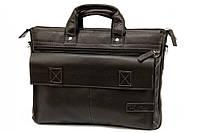 Кожаная мужская сумка-портфель Tom Stone 515 черная