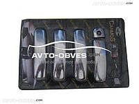 Накладки на ручки дверей для Audi A6 2004-2011 (под чип/под ключ)