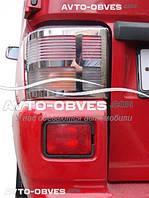 Накладки на задние фонари (стопы) для VolksWagen Transporter T4 нержавейка