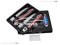 Накладки на ручки открывания дверей для Nissan Qashqai 2014-... (под ключ)