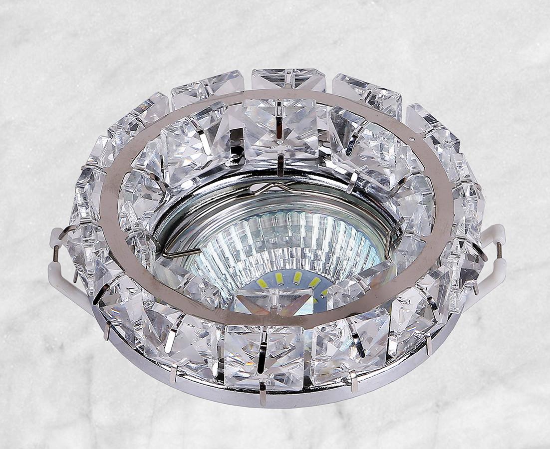 Точечный стеклянный врезной светильник (16-MKD030 CR)