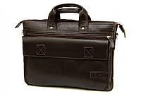 Кожаный мужской портфель-сумка Tom Stone 515 коричневый