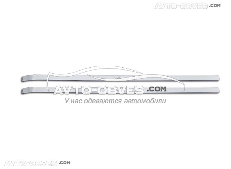 Накладки на молдинг сдвижной двери Peugeot Partner
