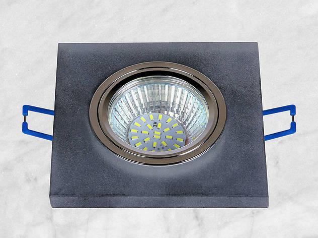 Точечный стеклянный врезной светильник (16-MKD038), фото 2
