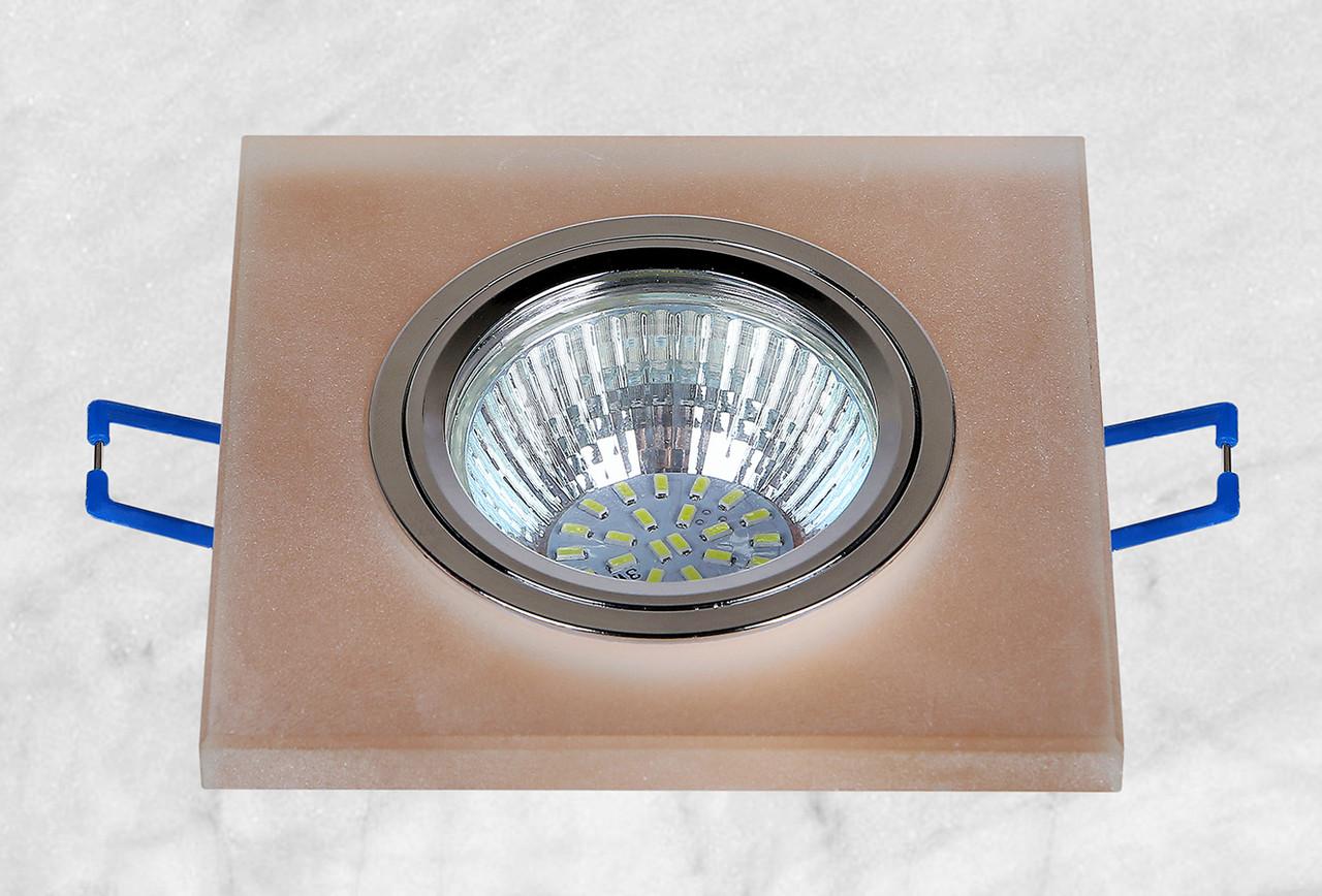 Точечный стеклянный врезной светильник (16-MKD039)