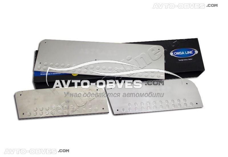 Накладки на дверные пороги салона для VolksWagen Crafter 3 шт