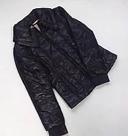 Красивая зимняя куртка для девочки чёрного цвета Braue Soul.