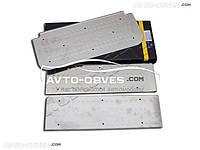 Накладки на боковые пороги Opel Vivaro 2001-2010, 3 шт, нержавейка