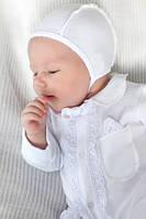 Комплект на выписку из роддома для мальчика (Белый)