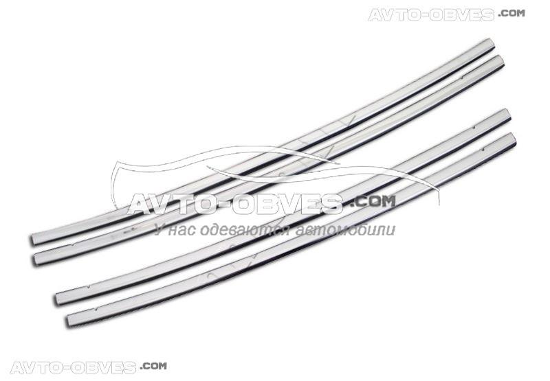 Накладки на решетку радиатора для Fiat Fiorino 4 элемента