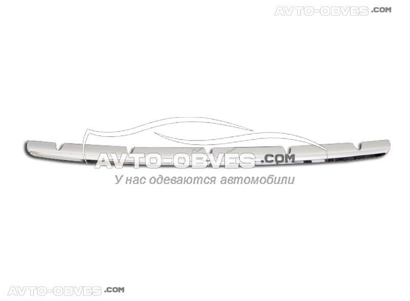 Накладка в бампер передний Renault Master 2010-..., нержавейка