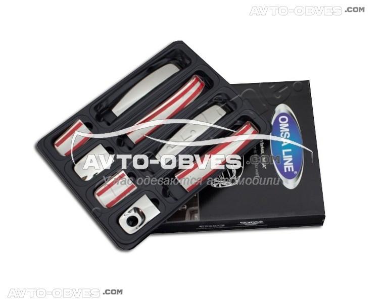 Накладки на ручки открывания дверей Nissan Primastar (2003-2014) 4 шт Carmos