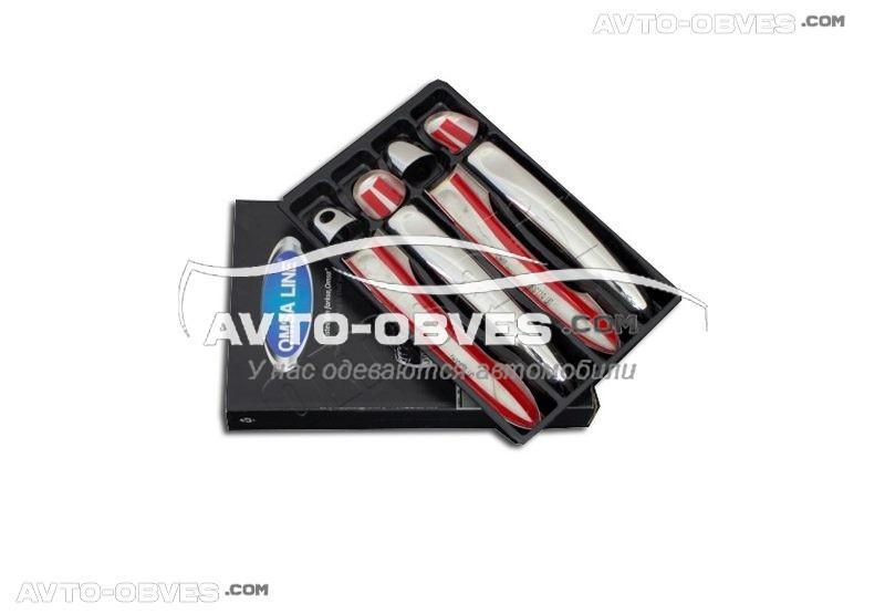 Накладки на ручки открывания дверей Renault Fluence 2009-2014 под ключ