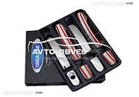 Накладки на ручки открывания дверей для Ford Kuga (под ключ)