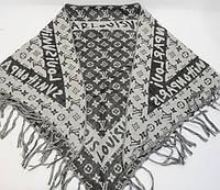 Платок-косынка треугольный двусторонний, хлопок Louis Vuitton 7781