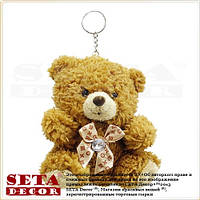 Брелок плюшевый медвежонок 11х12 см