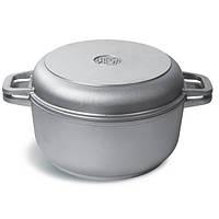 Кастрюля c утолщенным дном и крышкой сковородой 5 л