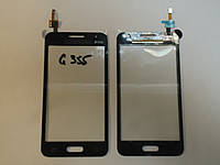 Сенсор Samsung G355 Galaxy Core 2 black orig + самоклейка