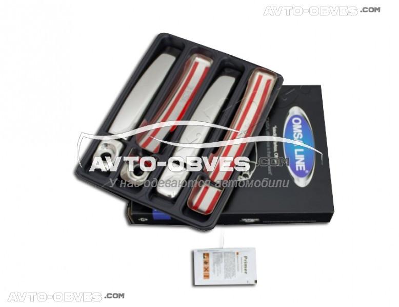 Накладки на ручки дверей Nissan NV400 2010-... (нержавейка, 4 шт) Carmos