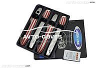 Накладки на дверные ручки для Mercedes Vito / V-class, 4 шт (под ключ)