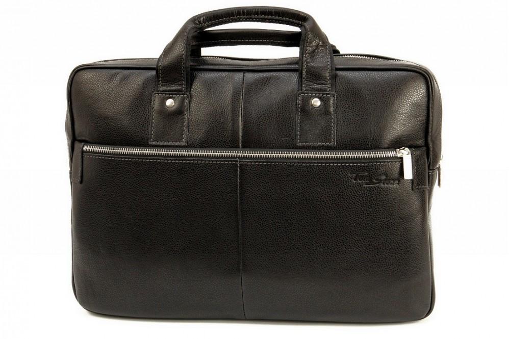 d46c3e04eee5 Кожаная мужская сумка-портфель Tom Stone 704 чёрная от интернет ...