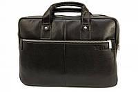 Кожаный мужской портфель-сумка Tom Stone 704 черный