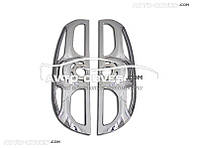 Накладки на задние фонари (стопы) Fiat Doblo нержавейка 2 шт