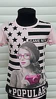 Оригинальные футболки для девочек.Размеры 134-164 см.Фирма S&D.Венгрия