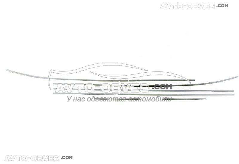 Нижние молдинги стекол Hyundai ix35 (2010 - 2016) из 6 элементов Carmos