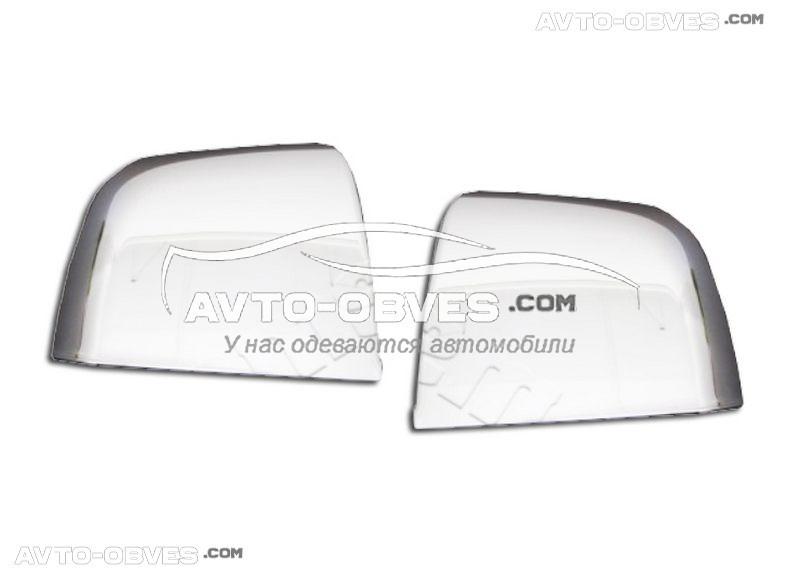 Накладки на зеркала заднего вида Opel Combo 2012-2018 нержавейка