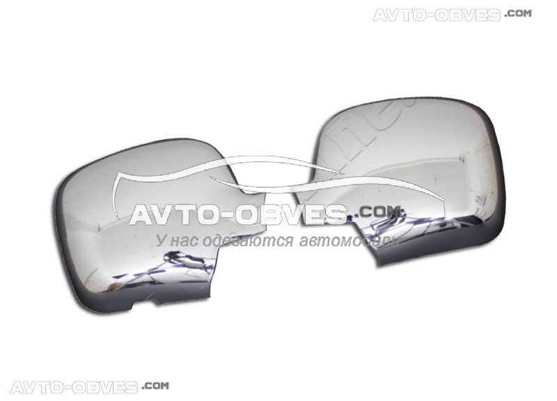 Накладки на зеркала заднего вида Renault Kangoo 2008-2012 нержавейка
