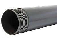 Труба для скважин обсадная нПВХ 6/125/5000мм (серая)