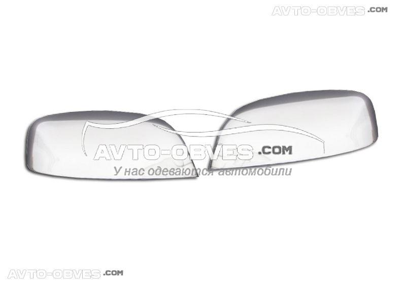Накладки на зеркала Toyota Land Cruiser Prado 150 2009-2013 нержавейка Carmos