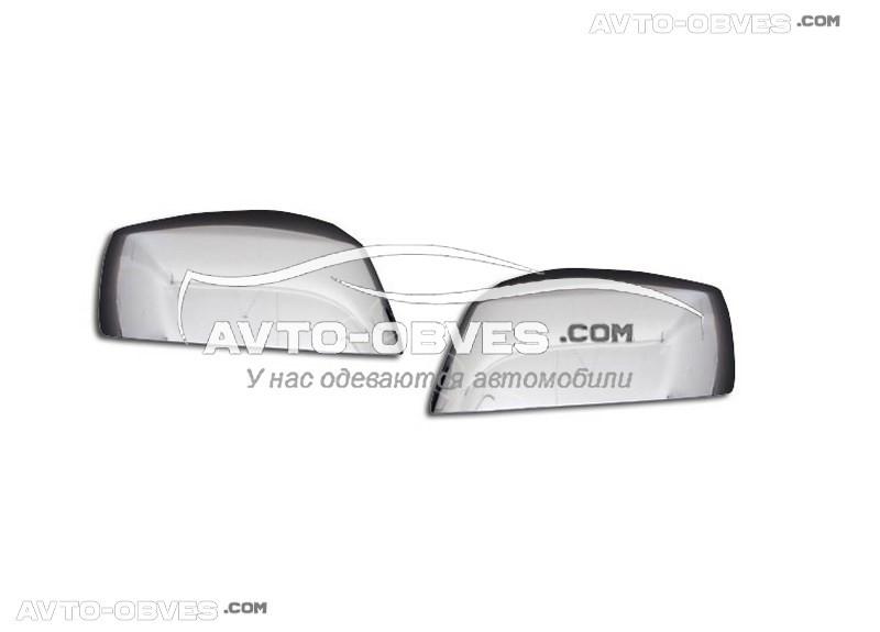 Накладки на зеркала заднего вида Nissan Navara 2008-2014, АБС пластик (под поворотники)