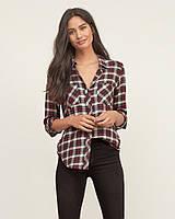Бордовая фланелевая рубашка Abercrombie & Fitch